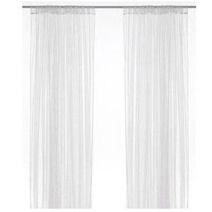 IKEA LILL Curtains Sheer Net  2 Panels 110 X 98